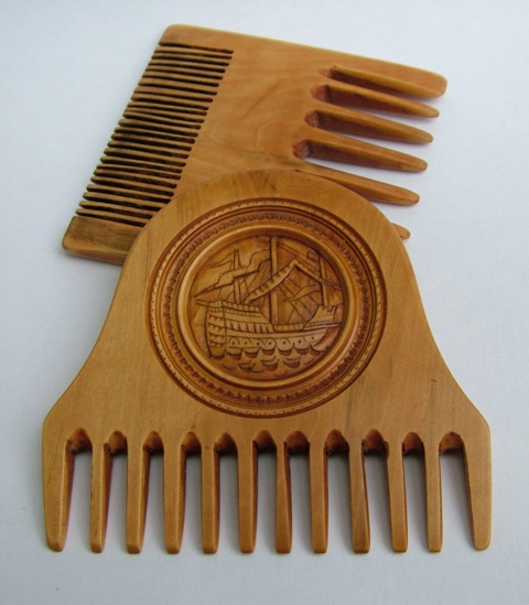 Mary Rose Boxwood combs by Stuart King, July 2013