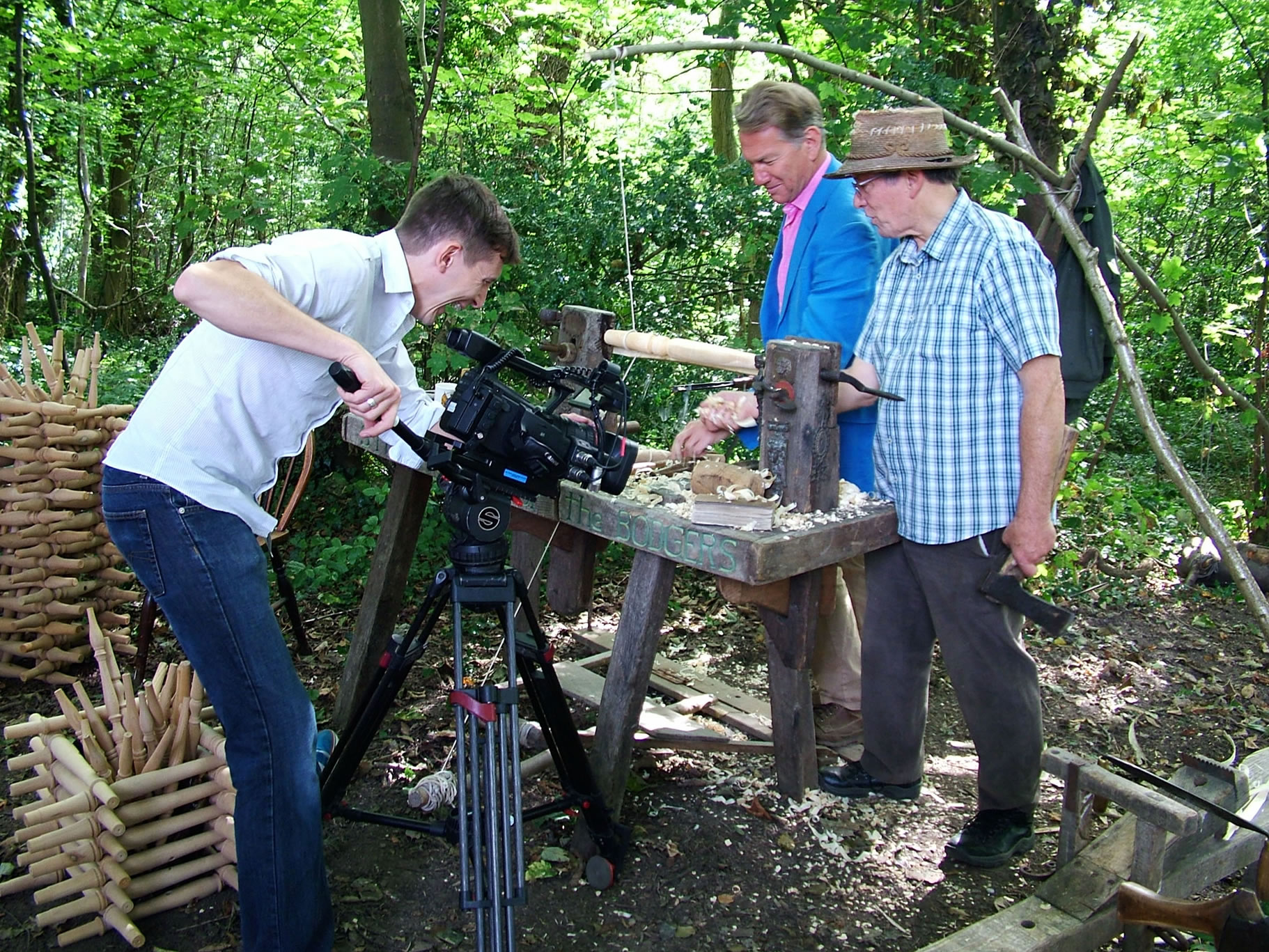 Stuart King with Michael Portillo filming for TV -Great Railway Journeys (4)