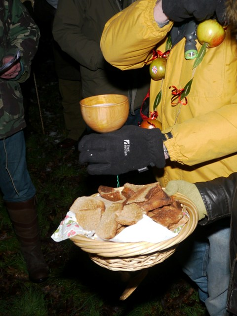 Wassail Cup and toast-Croxley Green Wassail Evening 27th Jan 2012-Stuart king- image - - Copy