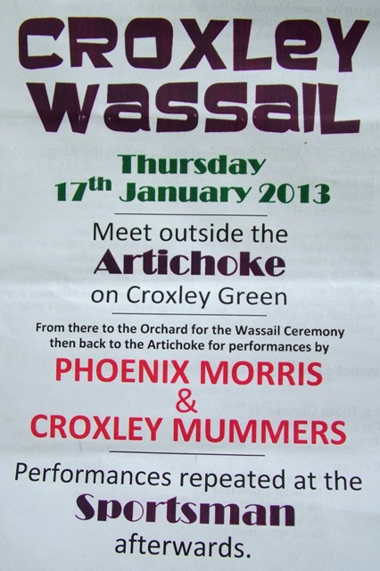Wassailing at Croxley Green 2013 - Copy