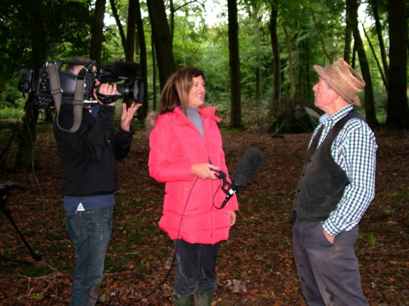 Wildwood, BBC TV News, filming Stuart King Oct 2013- (2)