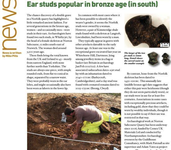 ear studs bronze age